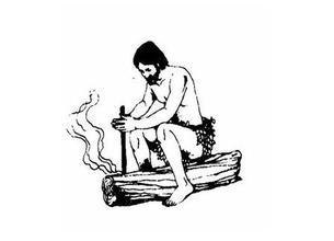 贝爷教你钻木取火的方法